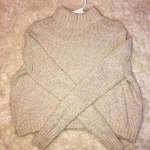 AE Cropped Mock Neck Sweater